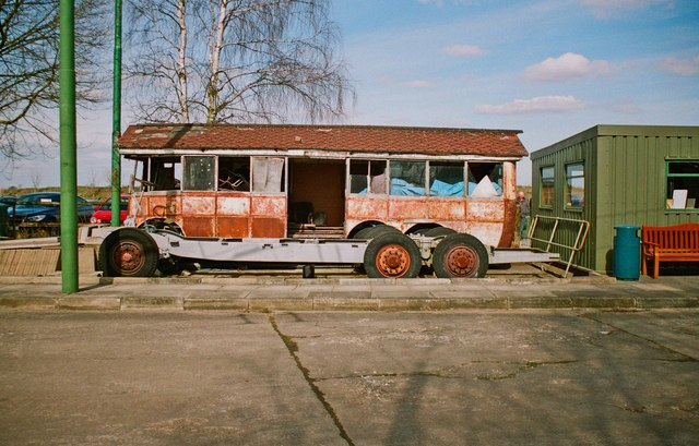 The Trolleybus Museum at Sandtoft - trolleybus chassis and body, near Sandtoft, Lincs