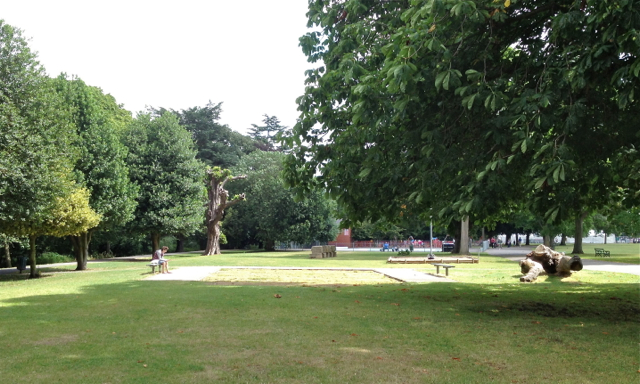 Site of skate ramp, Victoria Park