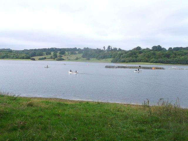 Fishermen in Bewl Water Reservoir