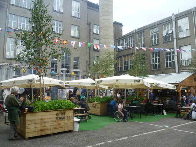 Summerhall courtyard during the Festival