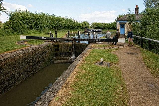 Lock on the Grand Union Canal, Marsworth