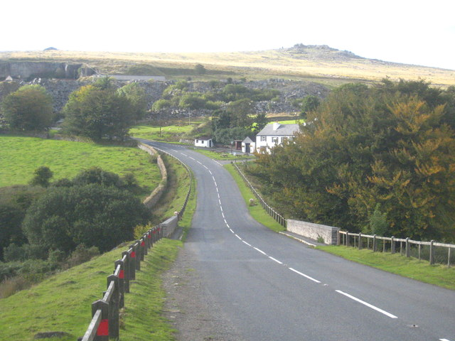 The B3357 at Merrivale