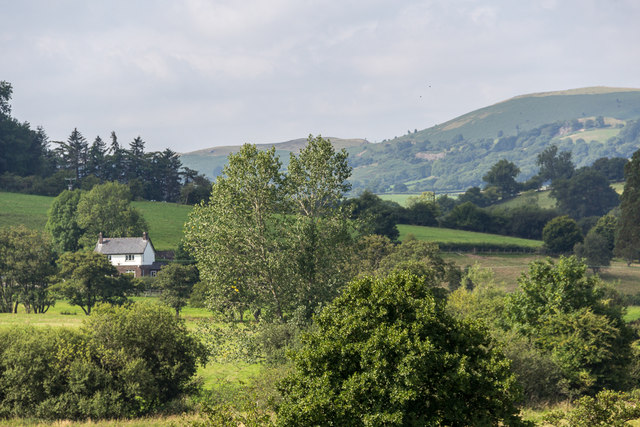 View from The Mount, Hundred House, Powys