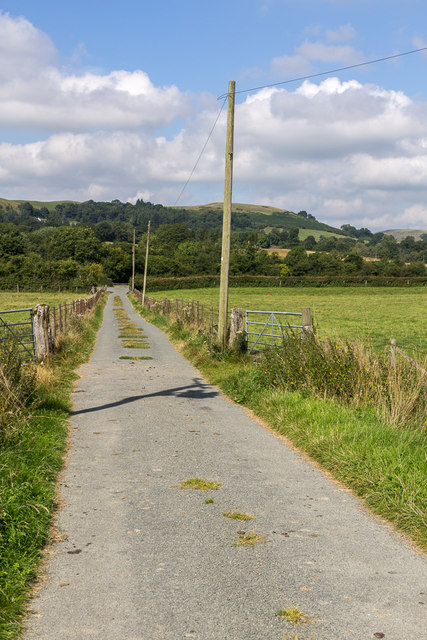 Road from Hundred House to The Mount, Hundred House, Powys