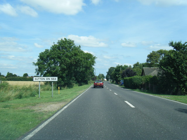 A52 at Sutton on Sea boundary