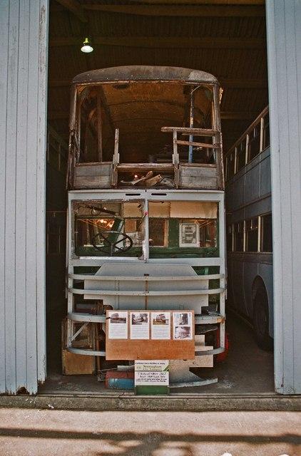 The Trolleybus Museum at Sandtoft - Nottingham City Transport trolleybus 367, near Sandtoft, Lincs