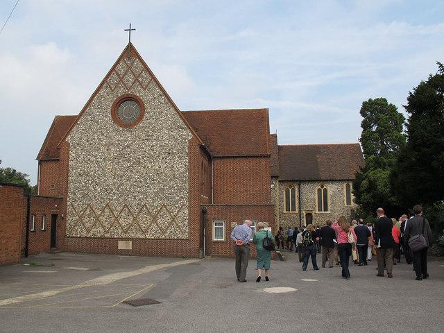 All Saints, Orpington: south end