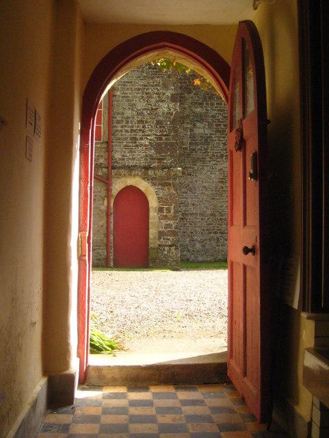 A doorway at Hartland Abbey