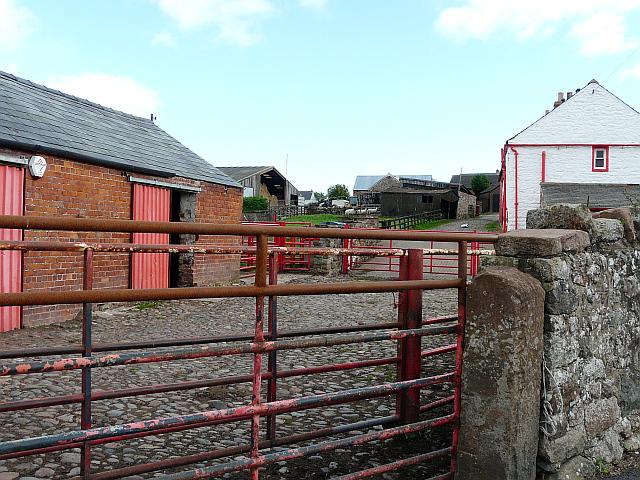 Cobbled farmyard