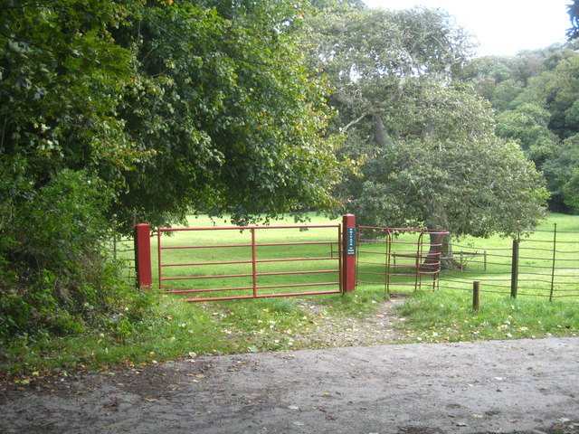 The gate into the Abbey grounds