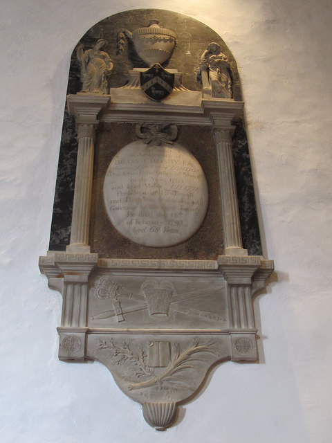 St Martin of Tours, Chelsfield: Brass Crosby memorial