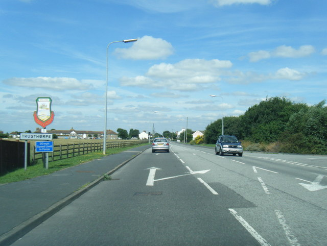 A52 northbound at Trusthorpe boundary