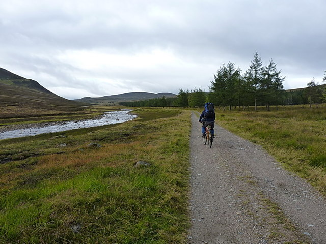 Riding from White Bridge, up the Geldie Burn