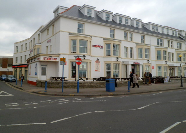 The Marine bar and flatlets, Porthcawl