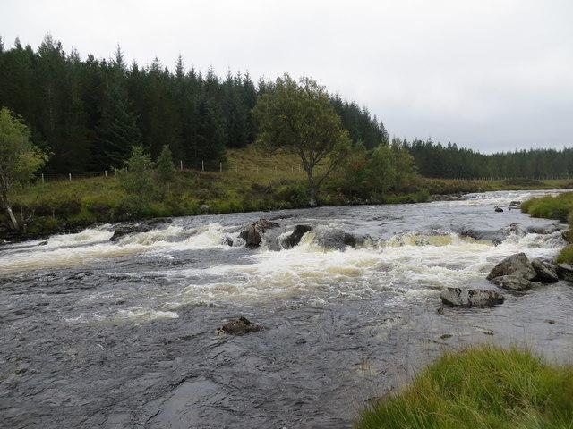 Garbh Ghaoir before it flows into Loch Eigheach