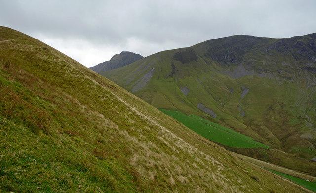 Grassy slope of Braich-yr-hwch