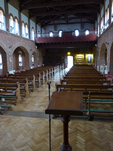 Inside St Saviour's RC Church, Totland