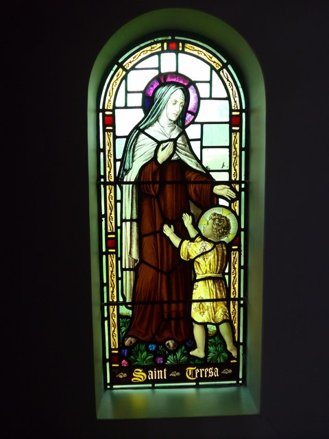 St Saviour's RC Church, Totland: stained glass window (1)