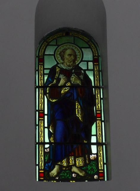 St Saviour's RC Church, Totland: stained glass window (2)