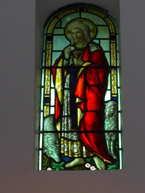 St Saviour's RC Church, Totland: stained glass window (3)