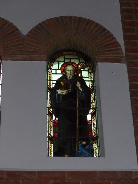 St Saviour's RC Church, Totland: stained glass window (5)