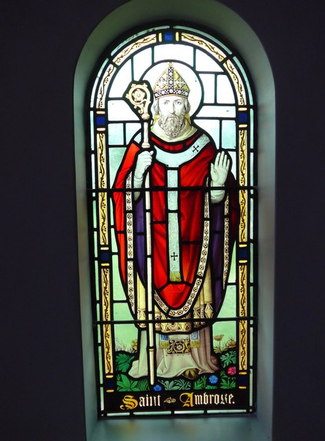 St Saviour's RC Church, Totland: stained glass window (7)