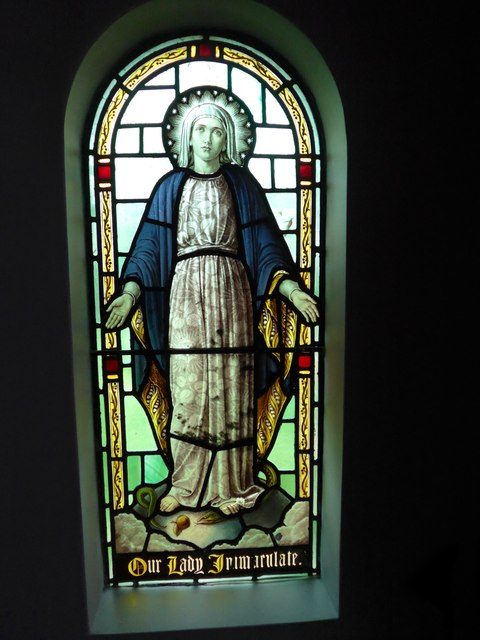 St Saviour's RC Church, Totland: stained glass window (8)