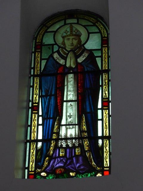 St Saviour's RC Church, Totland: stained glass window (9)