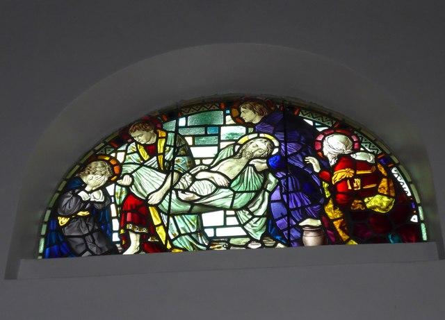 St Saviour's RC Church, Totland: stained glass window (11)