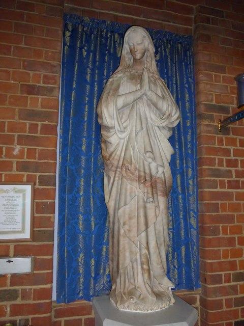 St Saviour's RC Church, Totland: statue (c)