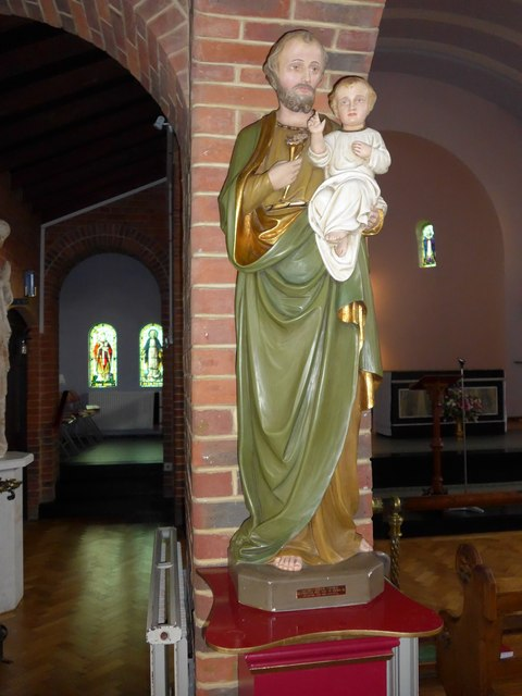 St Saviour's RC Church, Totland: statue (d)