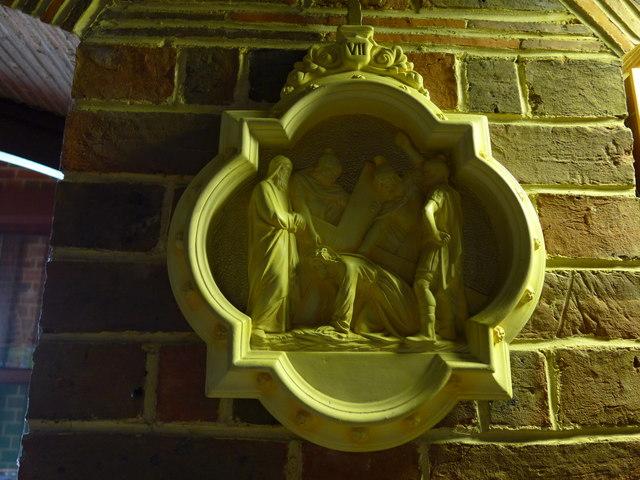 St Saviour's RC Church, Totland: a Station of the Cross