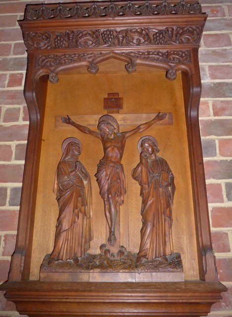 St Saviour's RC Church, Totland: wooden carving