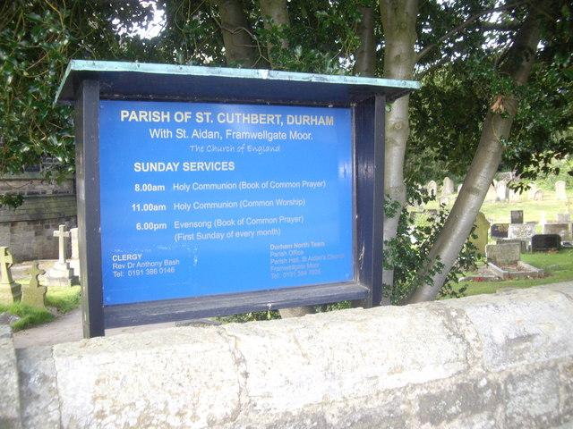 Parish of St Cuthbert, Durham