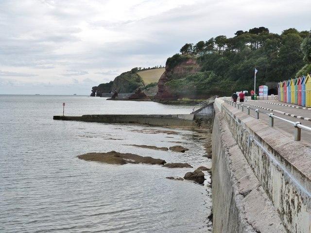 Coastal scene at Dawlish