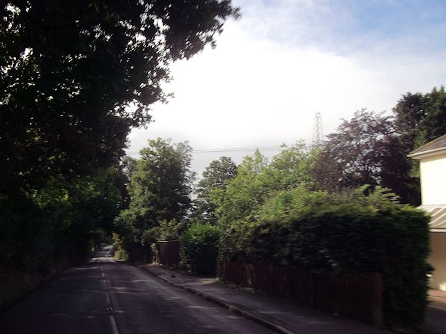 Hambledon Road approaching power lines