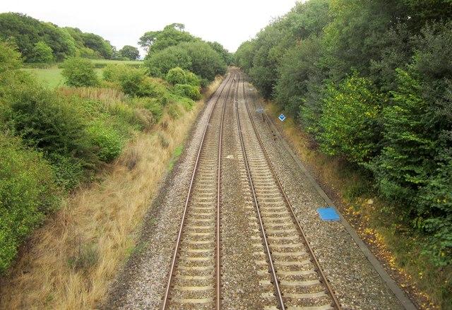 Railway near Stowell Wood