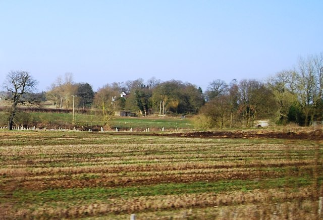 Farmland by the canal