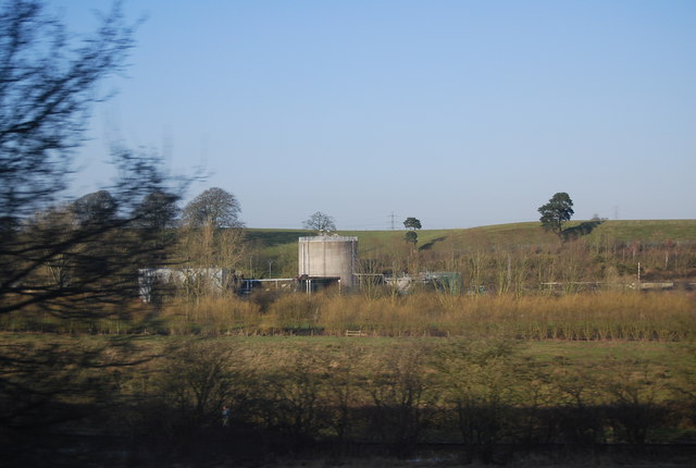 Sewage works on the edge of Stafford