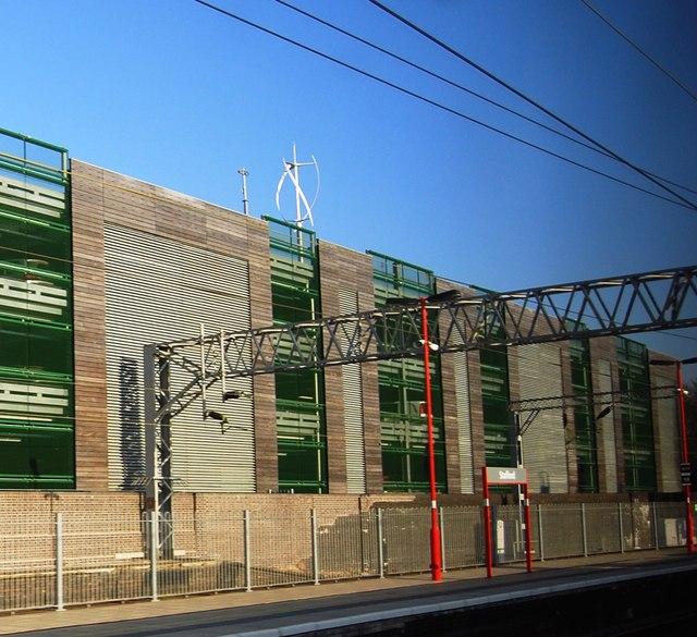 Multi-storey car park by Stafford Station