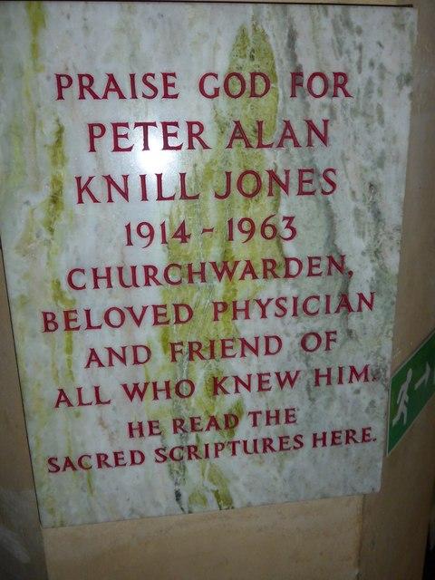 Christ Church, Totland: memorial (e)