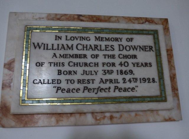 Christ Church, Totland: memorial (f)