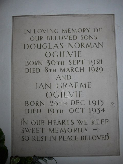 Christ Church, Totland: memorial (g)