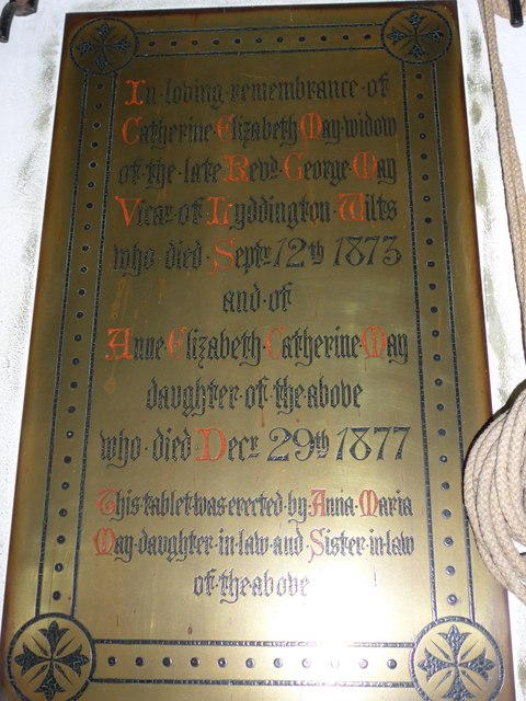Christ Church, Totland: memorial (h)
