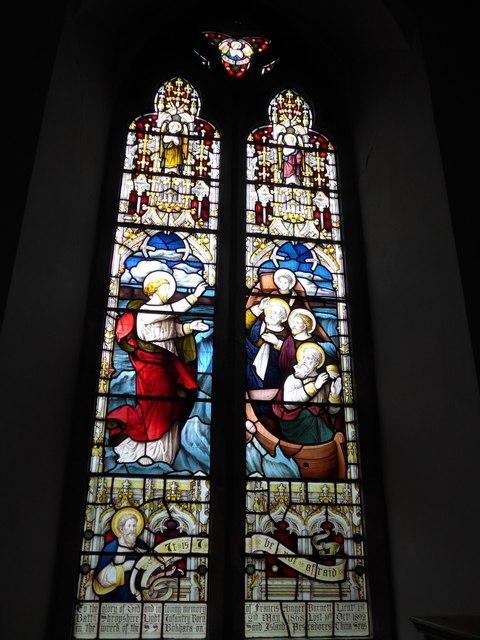 Christ Church, Totland: stained glass window (II)