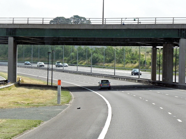 M6 Toll Road, Bridge at Junction T8