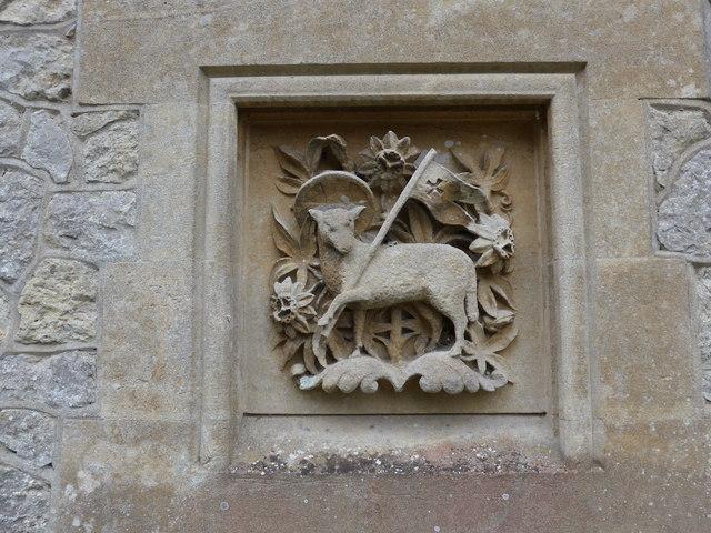 Christ Church, Totland: stone carving