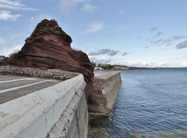 Old Maid Rock and the Breakwater, Dawlish