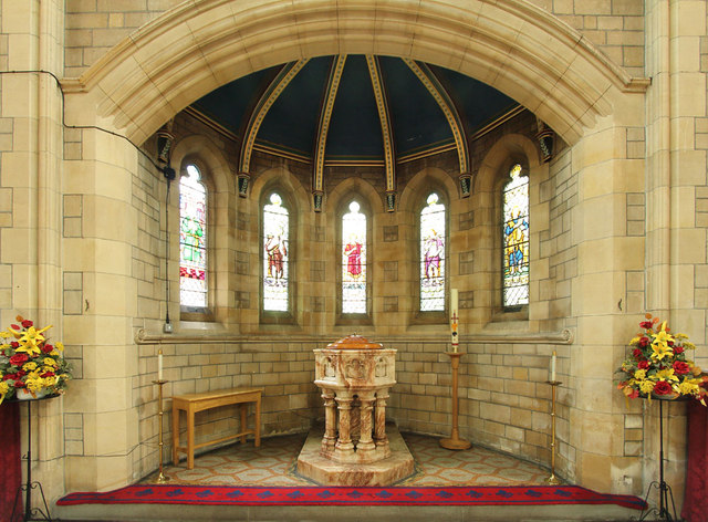 St Stephen, Bush Hill Park - Baptistery