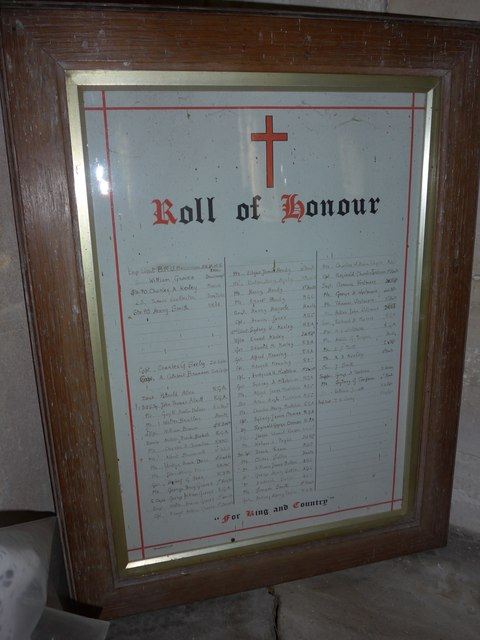 St Olave, Gatcombe: Roll of Honour (b)